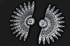 20 s earrings deco earrings gatsby earrings starburst earrings 1920s