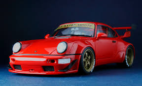 porsche 964 red porsche 911 type 964 rwb fcaminhagarage 1 18 youtube