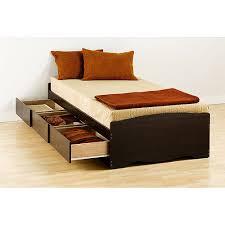 Walmart Bed Frame With Storage Prepac Edenvale Platform Storage Bed Espresso Walmart