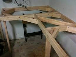 corner sewing table plans cheap and easy garage workbench garage workbench easy and corner
