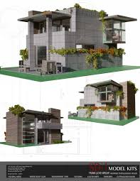 Frank Lloyd Wright Inspired House Plans by Frank Lloyd Wright Inspired Textile Block House Cut U0026 Assemble