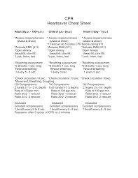 cpr cheat sheet emergency info pinterest