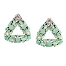 cheap earrings triangular mint posts glass statement post earrings by