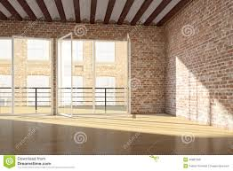 Brick Loft by Empty Loft With Red Brick Wall Stock Illustration Image 40801099