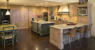 distressed island kitchen eull woodworks
