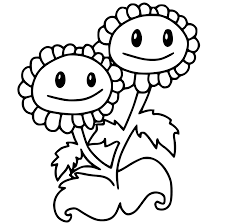 peashooter plants vs zombies 2 coloring page get coloring pages