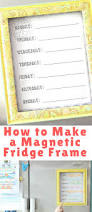 how to make a magnetic fridge frame with free menu planning