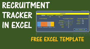 Candidate Tracking Spreadsheet by Recruitment Tracker Spreadsheet Free Hr Excel Template V1