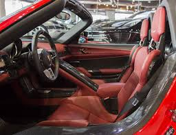 porsche 918 spyder interior red porsche 918 spyder weissach even stands out in dubai