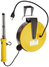 bayco led portable work light bayco sl 864 60 led work light on metal reel with 50 foot cord