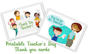 thank you cards for teachers 20 awesome teachers day card ideas with free printables