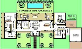 home plans homepw76422 2 454 square feet 4 bedroom 3 h shaped house plans with pool in the middle pg2 layout plans