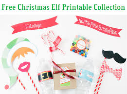 christmas elf printables and holiday label templates