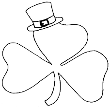 a shamrock wearing hat on st patricks day coloring page a 20134