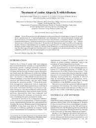 Garden City Dermatology Treatment Of Canine Alopecia X With Trilostane Pages 285 U2013293