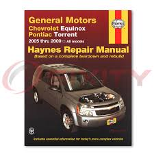 chevy equinox haynes repair manual sport lt ls ltz shop service