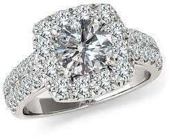 beautiful wedding ring 14k white gold cushion cut halo engagement ring