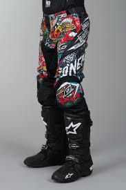 oneal motocross jersey o u0027neal mayhem lite crank motocross pants black multi quick