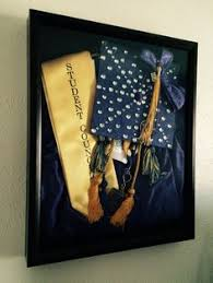graduation shadow box cap and gown grad box great to display in an office or something rather than