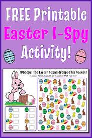 easter i spy free printable easter counting worksheet