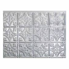 fasade traditional 1 brushed aluminum kitchen backsplash panel