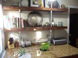 Galvanized Pipe Shelving by Reclaimed Wood U0026 Galvanized Pipe Shelves 6 Steps With Pictures