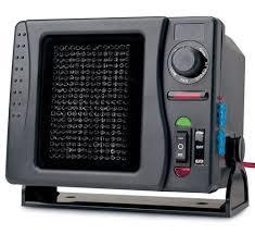 plug in car fan ceramic heater fan battery hook plug portable car trucks swivels