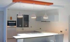 cuisine avec spot fascinante faux plafond placo salon placoplatre ba13 avec led
