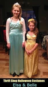 thrift shop costume elsa u0026 belle costumes daily dish magazine