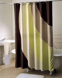 cream and brown shower curtain ideas for bathroom best curtains
