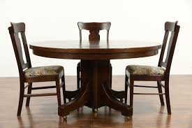 Arts And Crafts Dining Room Set sold arts u0026 crafts mission oak antique round craftsman dining