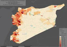 Syria On The Map by Map Of The Population Density In The Syrian Arab Republic Oc
