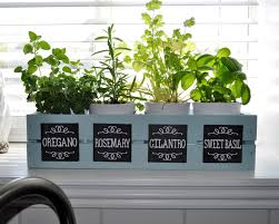 wood you like to craft herb garden with chalkboard labels sassy