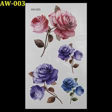 online get cheap blue rose tattoo aliexpress com alibaba group