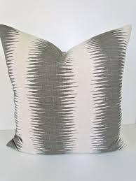 24x24 Decorative Pillows Gray Pillows Grey Throw Pillow Covers Gray Pillow Striped Gray