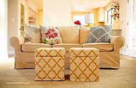 from ikea footstool to custom made storage ottoman