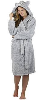 robe de chambre femme polaire avec capuche femmes doux polaire peignoir à capuche avec oreilles gris