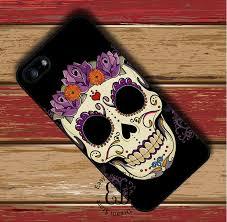sugar skull flower for iphone x 4s 5s se 5c 6 6s 7 8