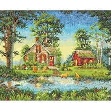 gold collection summer cottage counted cross stitch kit 70 35340