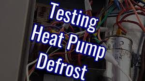 testing heat pump defrost nordyne youtube
