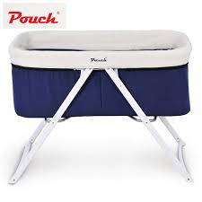 pouch baby travel crib cot infant fold bed newborn dual canopy