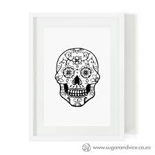 skull limited edition art print online sugar and vice south