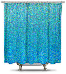 catherine holcombe blue raspberry fabric shower curtain