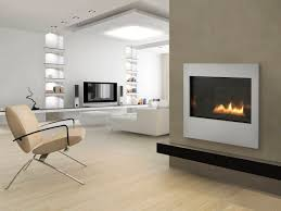 gas fireplace contemporary closed hearth built in metro 32