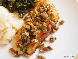 Trout Amandine Pan Fried Black Drum Recipe With Pecan Meunière Sauce Culicurious