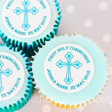 communion cake toppers personalised holy communion cake toppers blue boys holy