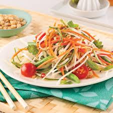 cuisiner la papaye salade de papaye verte recettes cuisine et nutrition pratico