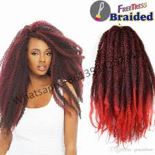 ombre marley hair 18nch synthetic hair afro kinky marley braid crochet braids hair