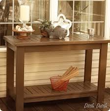 Outdoor Console Table Outdoor Slatted Console Table