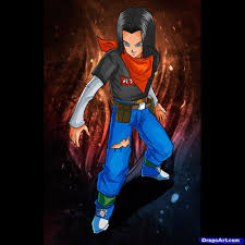 learn draw android 17 dragon ball characters anime